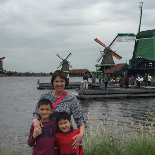 Zaanse Schans, Netherlands with kids